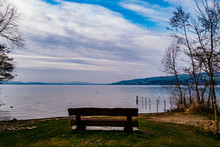 Empty Bench At Lakeshore Again...
