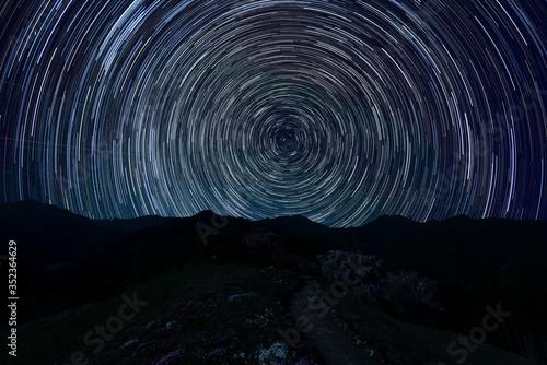 天空の村に星巡る Wallpaper Mural
