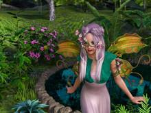 A Fairy In Wonderland. Cartoon...