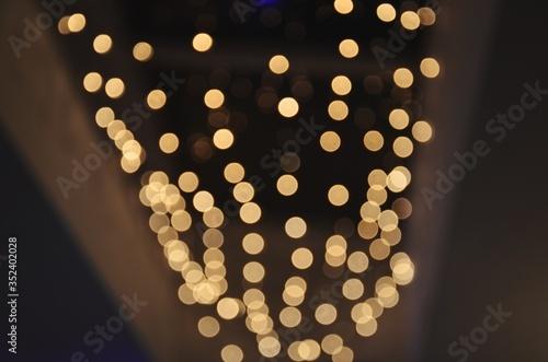 Fototapeta Defocused Image Of Christmas Lights obraz na płótnie