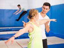 Trampoline Coach Training Woman