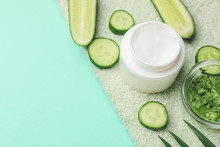 Cream With Cucumber Extract On...