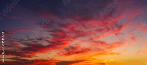 Obraz Cloudscape at sunset - fototapety do salonu