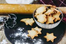 Biscuits Sablés En Forme D'étoile