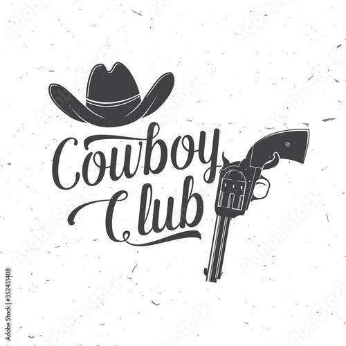 Fototapeta Cowboy club badge