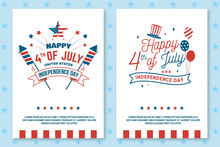 Set Of Vintage 4th Of July Pos...