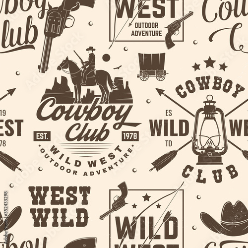 Tapety do pokoju chłopca  cowboy-club-seamless-pattern-background-vector-seamless-pattern-design-with-wild-west-cowboy-canyon-and-western-rifle-silhouette-cowboy-club-texture