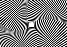 Optical Illusion Of Abstract Background With Wavy Pattern Dark Gray White Striped Swirl
