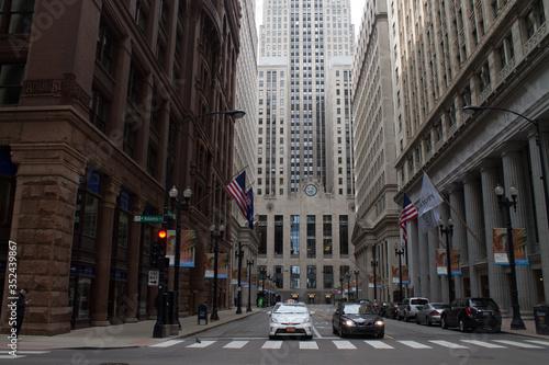 фотография City Street And Empire State Building