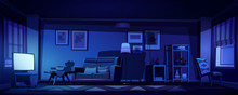 Living Room Interior In Boho S...