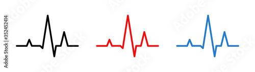 Heart beat line Canvas Print