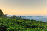 Fototapeta Na ścianę - Scenic View Of Hills Against Sky During Sunrise