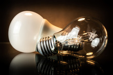 LED And Halogen Bulb.