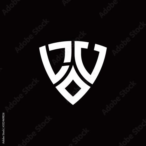 LU monogram logo with modern shield style design template Fototapete