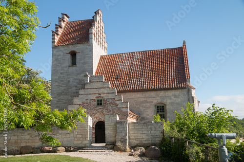 Cuadros en Lienzo old danish church on stevns in denmark almost falling into the ocean