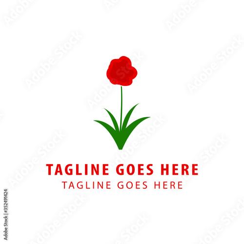 Photo amaryllis flower logo design