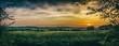 Leinwandbild Motiv Scenic View Of Field Against Dramatic Sky