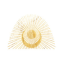 Chic Golden Luxurious Retro Vi...