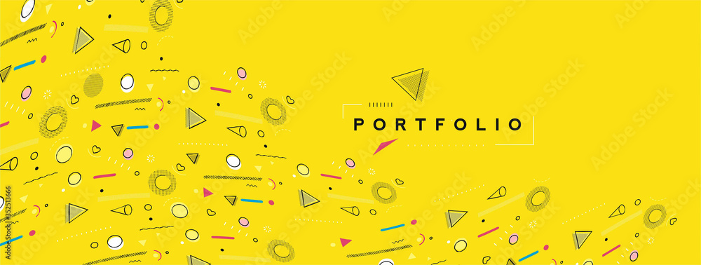 Fototapeta Abstract colorful pattern design and background. Use for modern design, cover, poster, template, brochure, decorated, flyer, banner.
