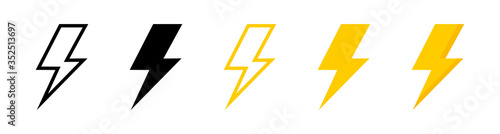 Fotomural Electric vector icons, isolated
