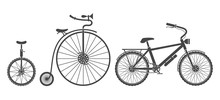 Bicycles Types Silhouettes