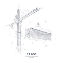 Abstract Illustration Of Crane...