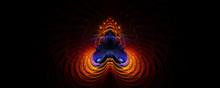 Abstract Shiva's Energy Shines Brightly