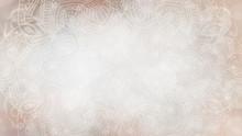 Soft Light, Earthy, Cream Organic Textured Bokeh Background With Mandala