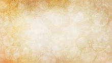 Soft Pastel Earthy, Organic, Golden Yellow Beige Textured Bokeh Background With Mandala