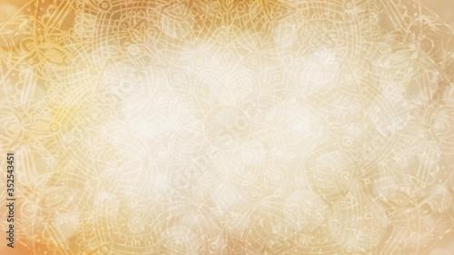 Plakaty beżowe  soft-pastel-earthy-organic-golden-yellow-beige-textured-bokeh-background-with-mandala