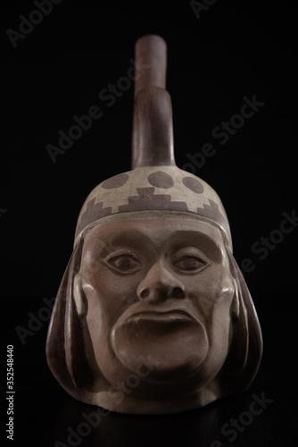 cultura incaica, huaco tradicional mochica de peru Canvas Print