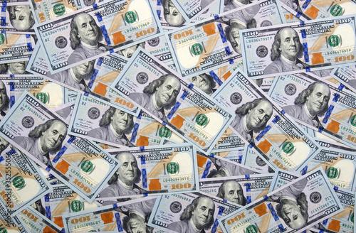 Fototapeta Money background of dollar banknotes obraz