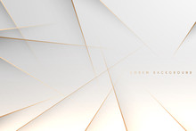 Abstract Simple White Background With Gold Lines