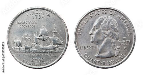 Papel de parede Quarter dollar coin