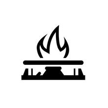 Gas Stove Icon. Vector