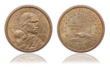Golden One Dollar Coin. 2000 Y...