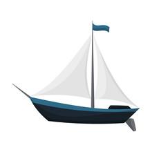 Yacht Sailboat Or Sailing Ship...