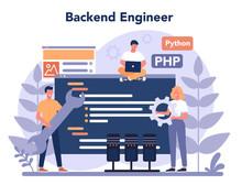 Back End Development Concept. ...