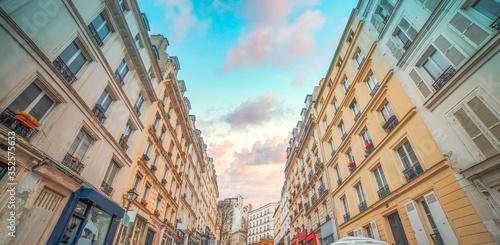 ancient narrow streets of Paris. France