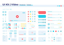 Video Player UI Elements Kit. ...