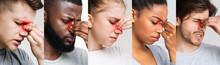 Sinusitis. Collage Of Diverse ...