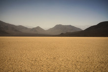 Mountains And Dry Lake At Death Valley National Park