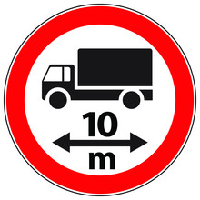 Warning Road Sign Of A Truck I...
