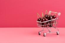 Fresh Juicy Cherries In Shoppi...