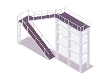Isometric Tower With Stairs Go...