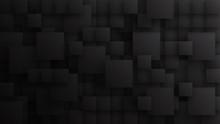 3D Different Size Squares Tech...