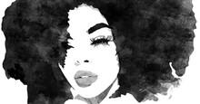 Beautiful African Woman. Black...