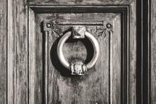 Circular Antique Iron Door Kno...