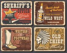 Wild West Retro Posters Set, V...