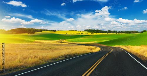 Obraz Scenic Summer Road Drive - fototapety do salonu